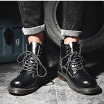 Men Leather Winter Martin Work Boots