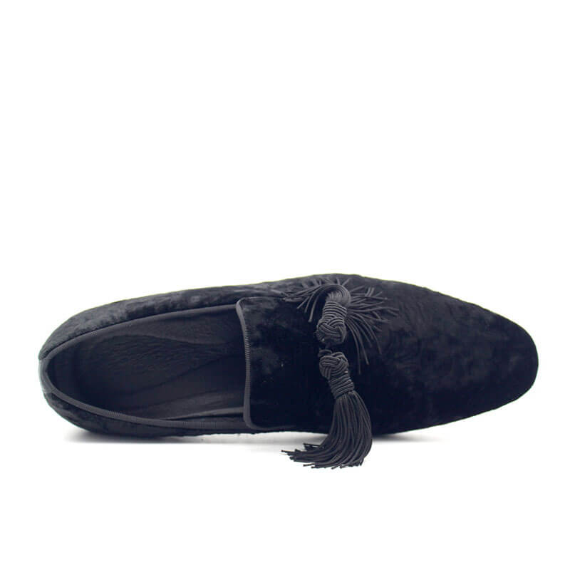 Men Velvet  Tassel Loafers
