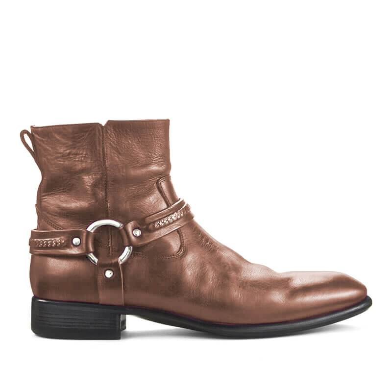 Men Rock-and-Roll Stylish Leather Boots