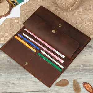 Crazy Horse Long Leather Wallet