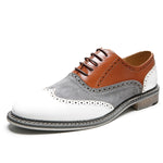 Men Vintage Casual Leather Brogue Shoes