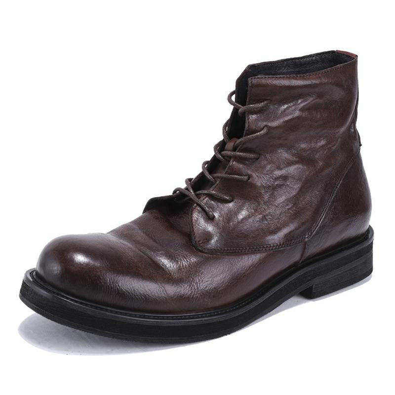 Men's Leather Retro Martin Boots