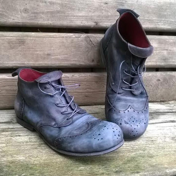 Vintage Brogue Handmade Leather Shoes