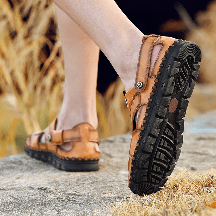 Large Size Genuine Leather Outdoor Casual Sandals