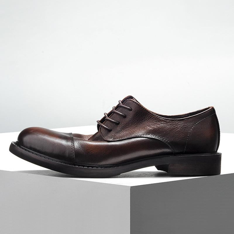 Round Toe Casual Leather Shoes