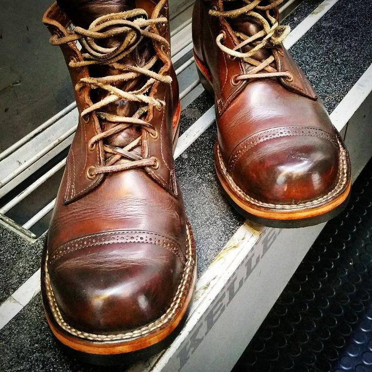 Vintage Genuine Leather Lace Up Boots
