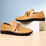 Large Size Hand Stitching Hole Breathable Water Friendly Leather Sandals