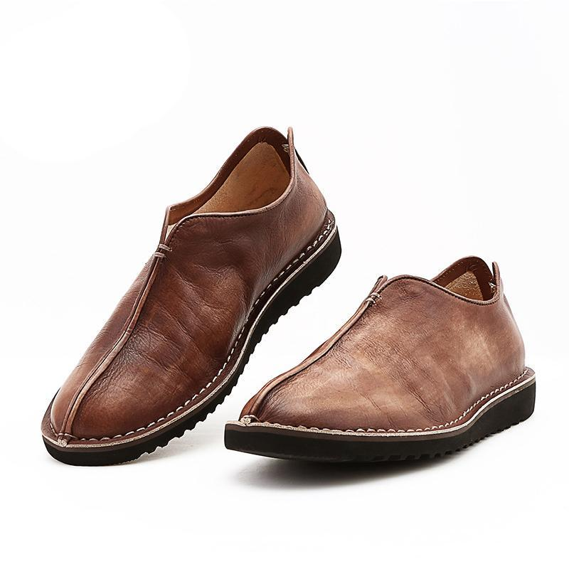 Men's Vintage Leather Flats