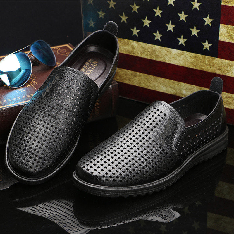 Vintage Breathable Outdoor Leather  Casual Shoes