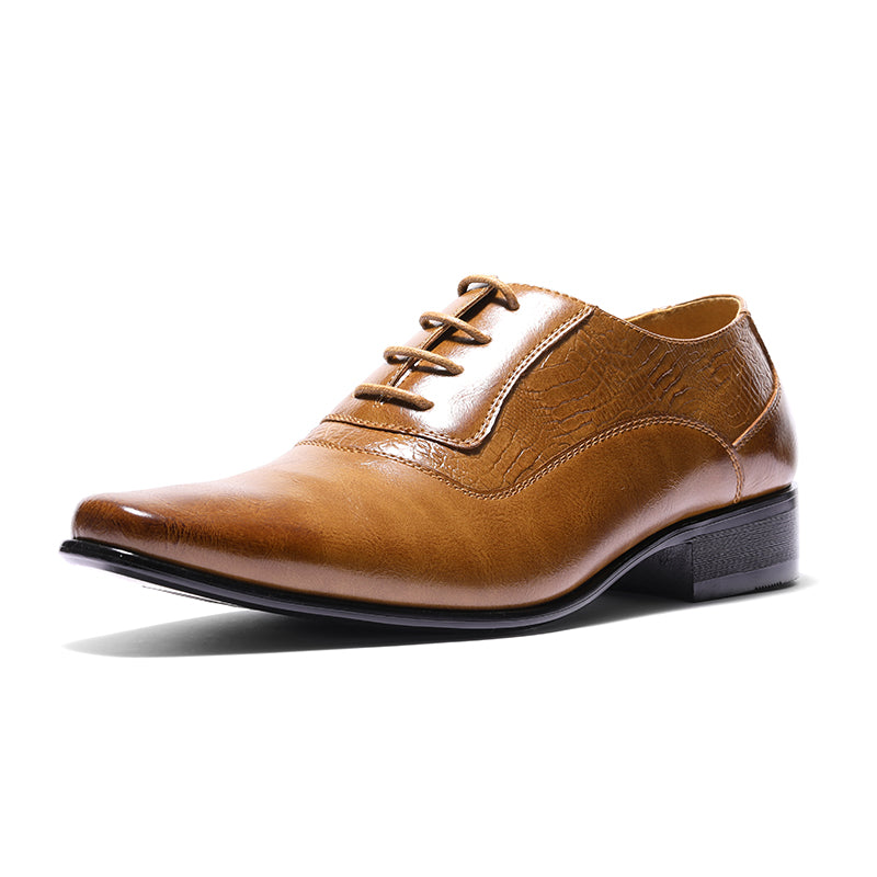 Pointed Toe Lace Up Formal Dress Shoes