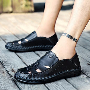 Summer Outdoor handmade Genuine Leather Casual Sandals