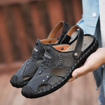 Large size Outdoor Casual  Leather Beach Sandals