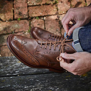 Handmade Leather Brogue Boots