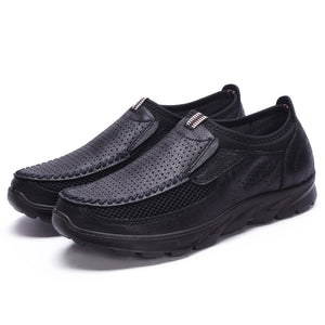 Large Size Men Hollow Out Splicing Comfy Soft Walking Casual Shoes