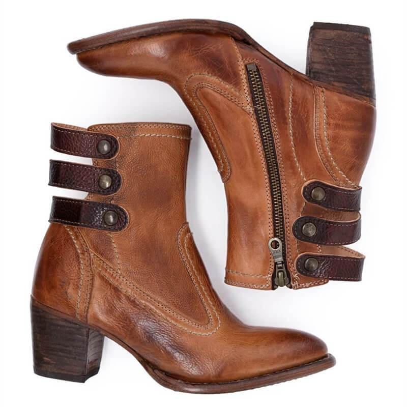 Handmade Leather Ankle Boots
