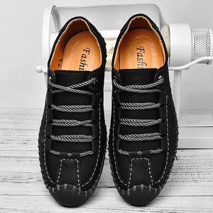 Large Size Quality Leather Casual Flats Shoes