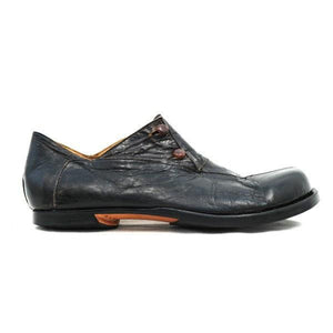 Button-Fastening Leather Shoes