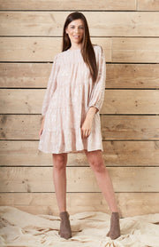 Nude and Sliver Smock Dress