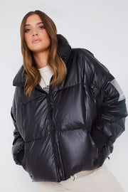 Zwart oversized pufferjack