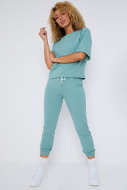 Mintgroene loungewear-set