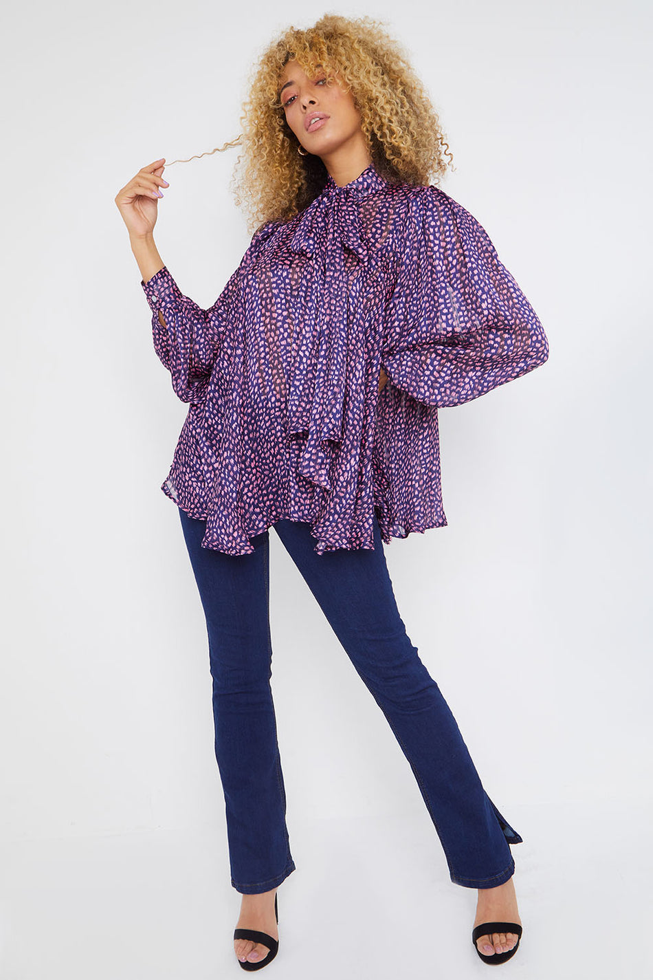 Purple Baby Doll Blouse