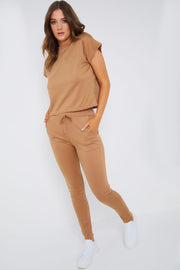 Caramel loungewear-set