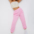 Baby roze joggingbroek