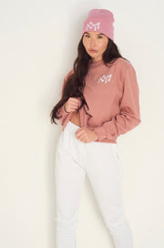 Dusky roze oversized MM Sweatshirt