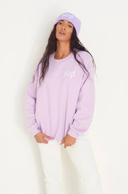 Lila oversized MM Sweatshirt