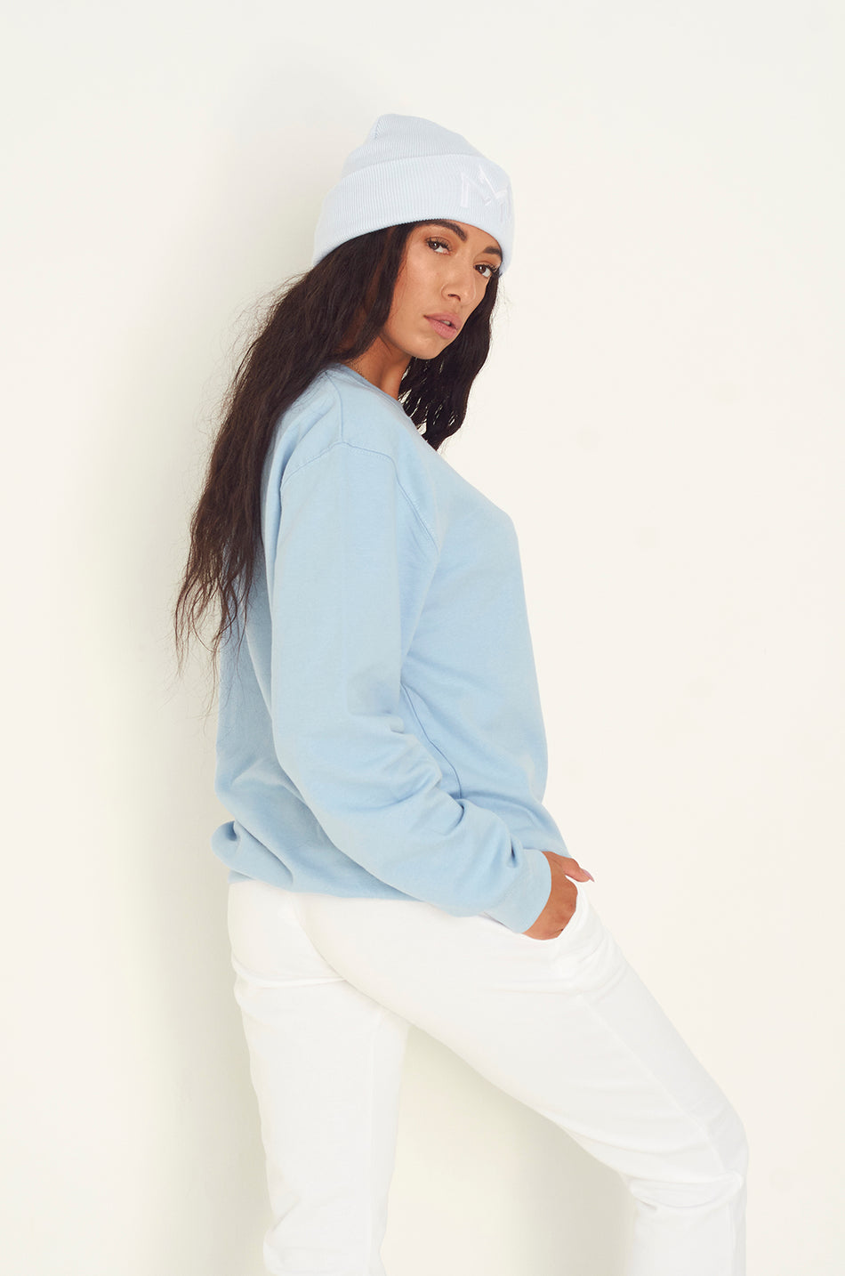 Baby Blue Oversized MM Sweatshirt
