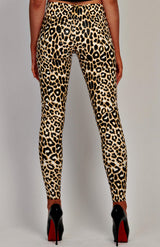 PU Leopard Print Patterned Leggings