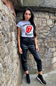 White Rolling Stones 1978 Tour T-Shirt