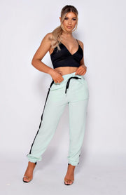 Mint Green Side Stripe Joggers