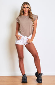 Stone Padded Shoulder T.Shirt