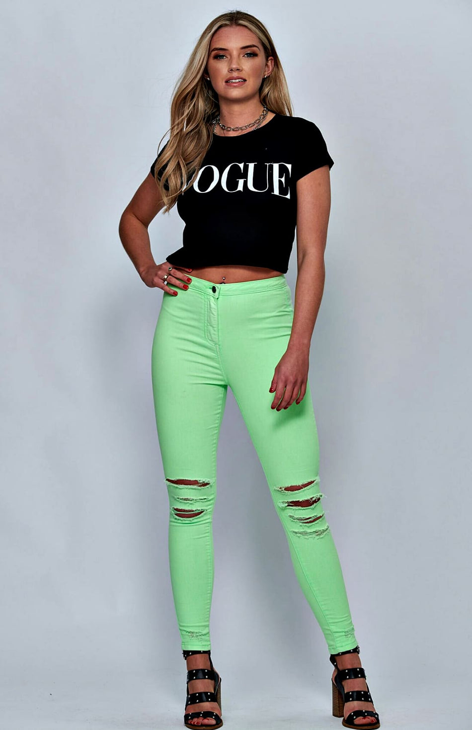 Zwart Vogue Slogan T-shirt