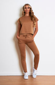Caramel Short Sleeved Loungewear Set