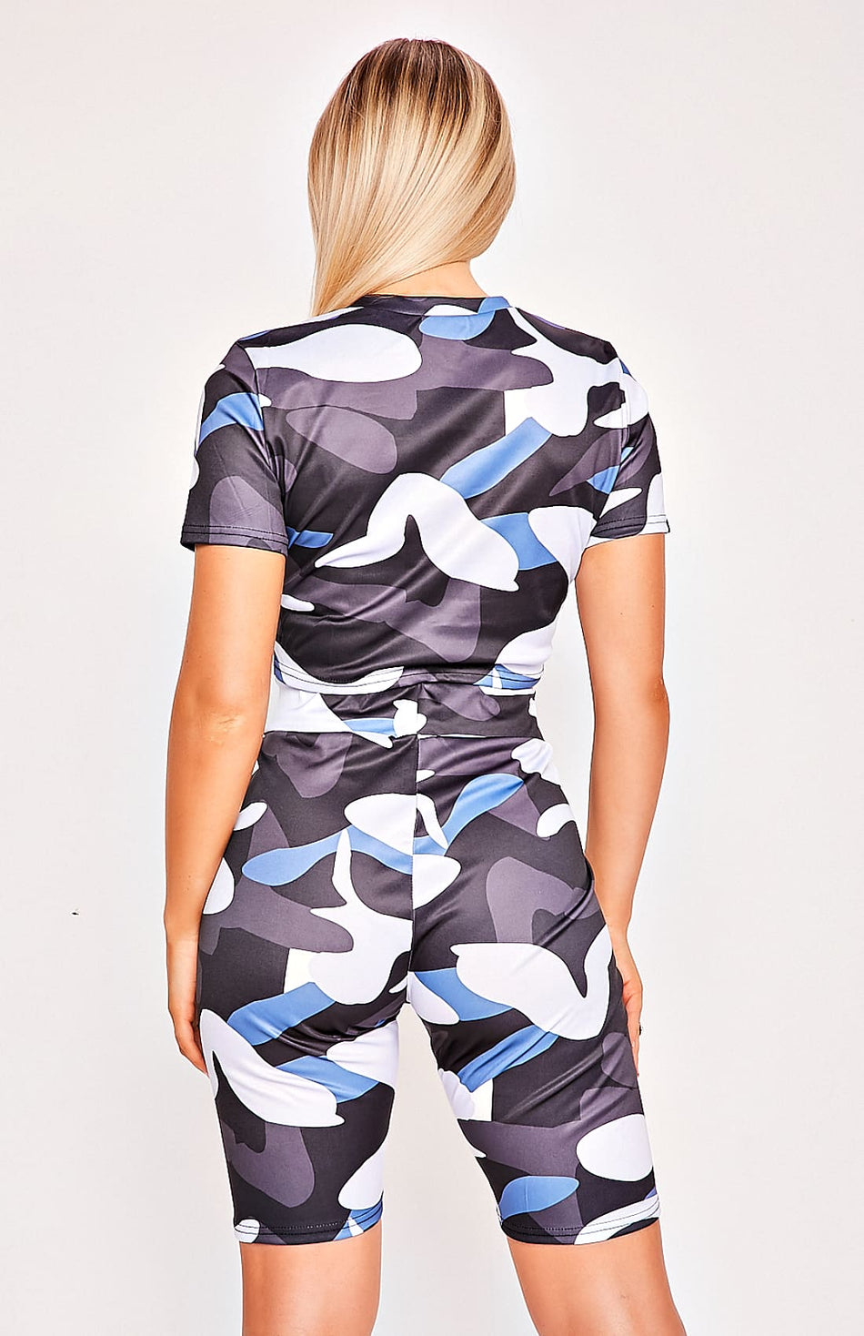 Camo Two Piece T-Shirt & Shorts Set