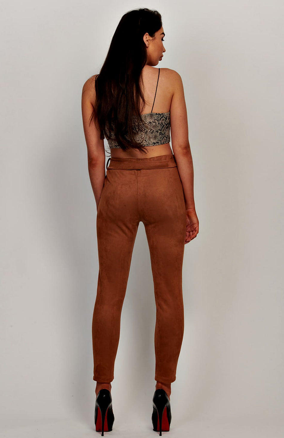 Faux Suede Skinny Trousers