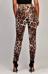 Leggings con estampado de leopardo