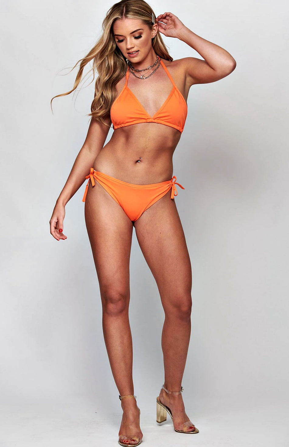 Orange Side Tie Bikini