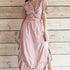 Dusky Pink Embroided Maxi Set