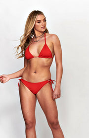 Red Side Tie Bikini