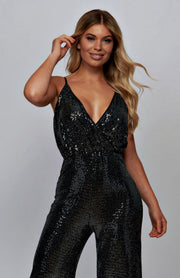 Shimmer sequin black Jumpsuit