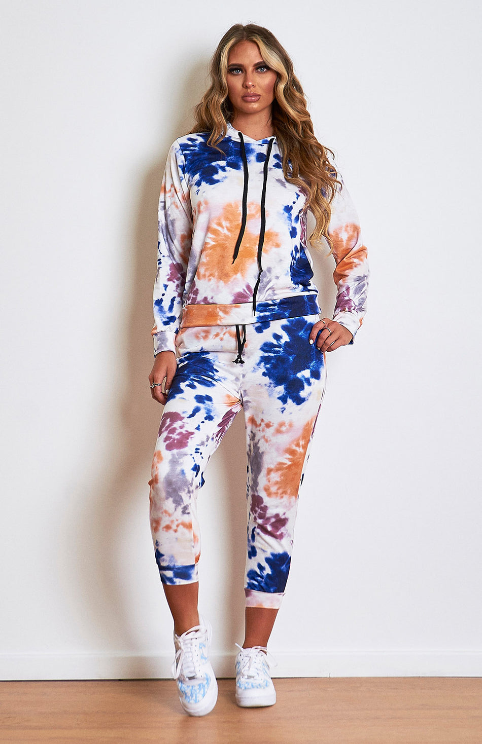 Orange and Blue Tie Dye Tracksuit