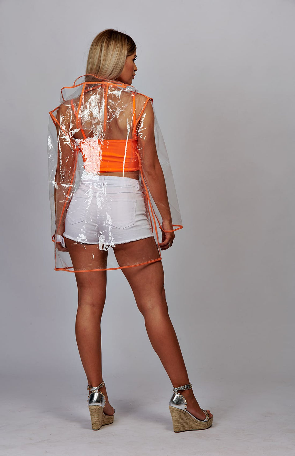 Transparent Zip Up Rain Mac