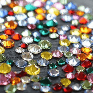 Swarovski flatback non hot fix round rhinestone crystals at Nail Art Supplies