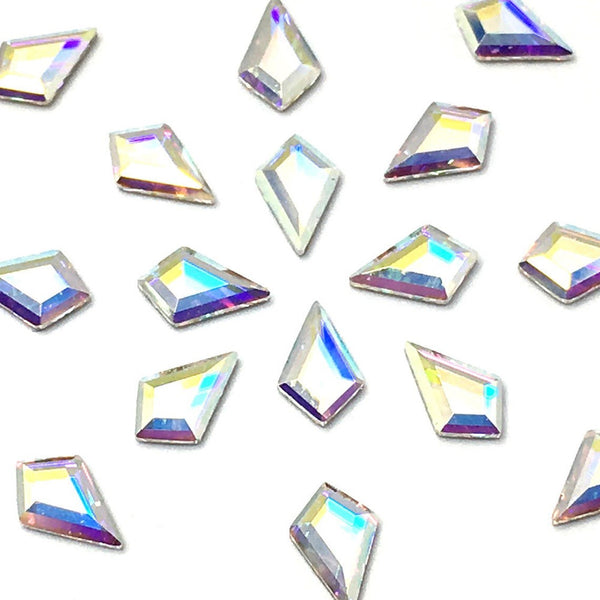 Swarovski Kite shape flat back rhinestone crystal non hotfix in Crystal AB color