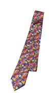 Jelly Bean White All Over Print, Easter Necktie
