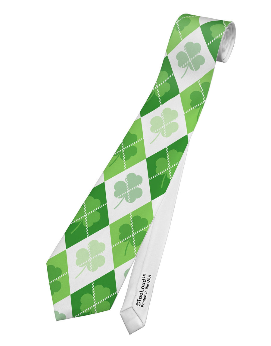 bb88d7dbe00a St Patrick's Day Green Shamrock Argyle Printed White All Over Print