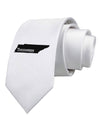 Tennessee - United States Shape Printed White Necktie